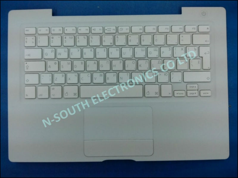 2014 wholesale lots for sale laptop keyboard for apple a1181 Russian version white with palmrest