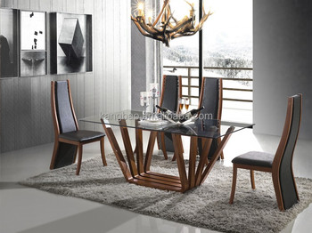 Glass Concrete Dining Table Sets With Solid Wood Table Base Buy - Concrete dining table and chairs