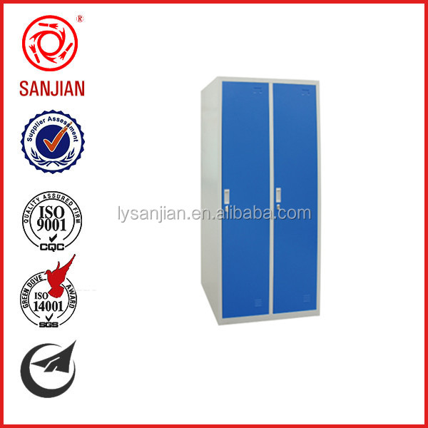 SJ-068 flat pack furniture Luoyang two door steel compartment steel locker