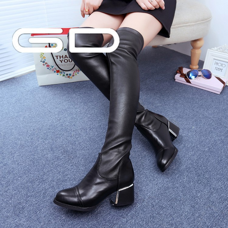 Lady fashion design new style winter warm high heeled <strong>boots</strong>