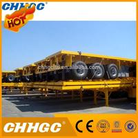 Heavy Duty Flatbed Truck Trailer And
