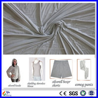 China Supply Silver fiber shielding material Anti radiation knitted fabric