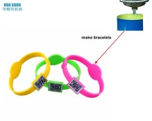 Newest design fashion qr code silicone bracelet custom hot sale produced by pure silicone rubber