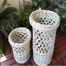 willow garden baskets for planting flower