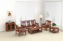 Solid wooden furniture designs sofa set