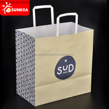 Food Grade Sturdy Good Looking Eco-friendly Disposable Family Use Groceries Bag / Paper Hand Carry Bag