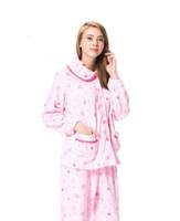 wholesale couple pajamas sets 100% polyester nightgowns ladies nightgown patterns all over print women's winter sleepwear