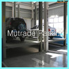 Portable vertical floor to floor lift for repair cars