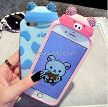 trade price Soft 3D animal cartoon characters custom silicone usb case factory with free sample
