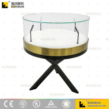 Beautiful black wood glass luxury jewelry&watch shop interior display showcase furniture with LED light