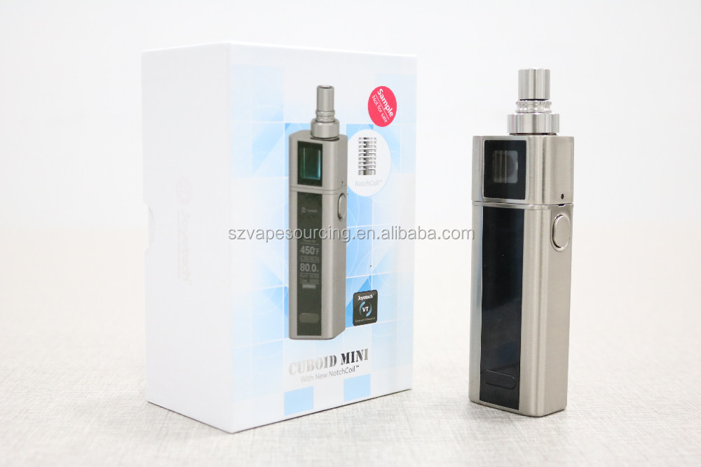 2016 newest Joyetech Cuboid mini kit with 5ml Cuboid mini atomizer 2400mah Capacity 80w Joyetech Cuboid mini