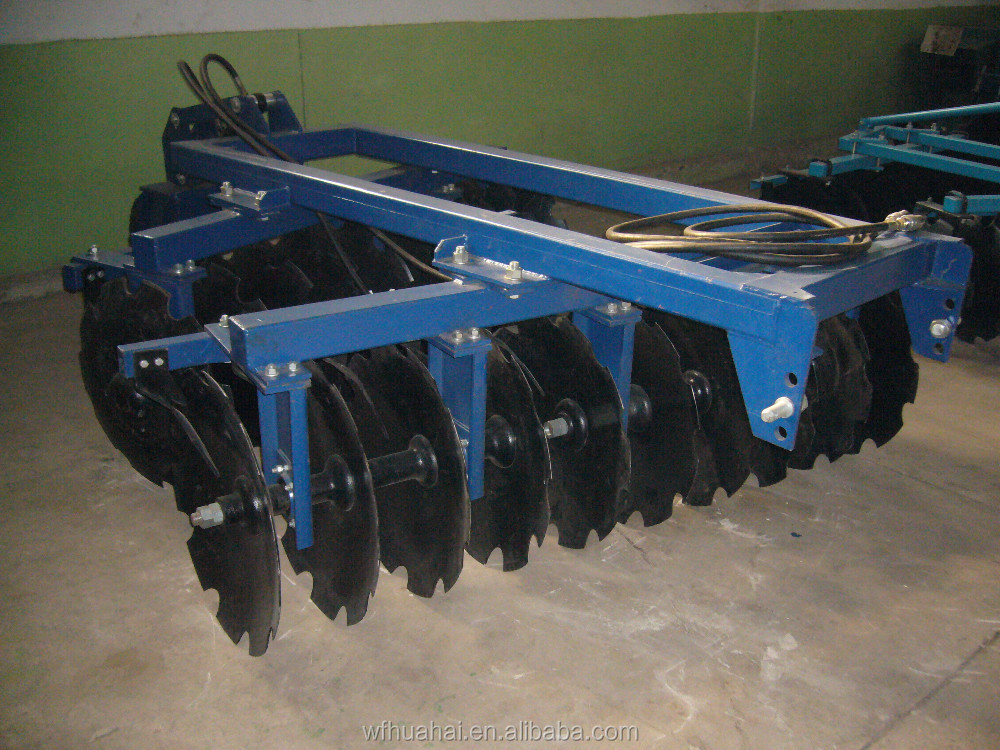 High quality LCBB series of hydraulic trailed offset heavy duty disc harrow for 80-240HP tractors