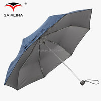 SAIVEINA 23 inch strong aluminium parts 3 fold umbrella / uv protection umbrella dot printed