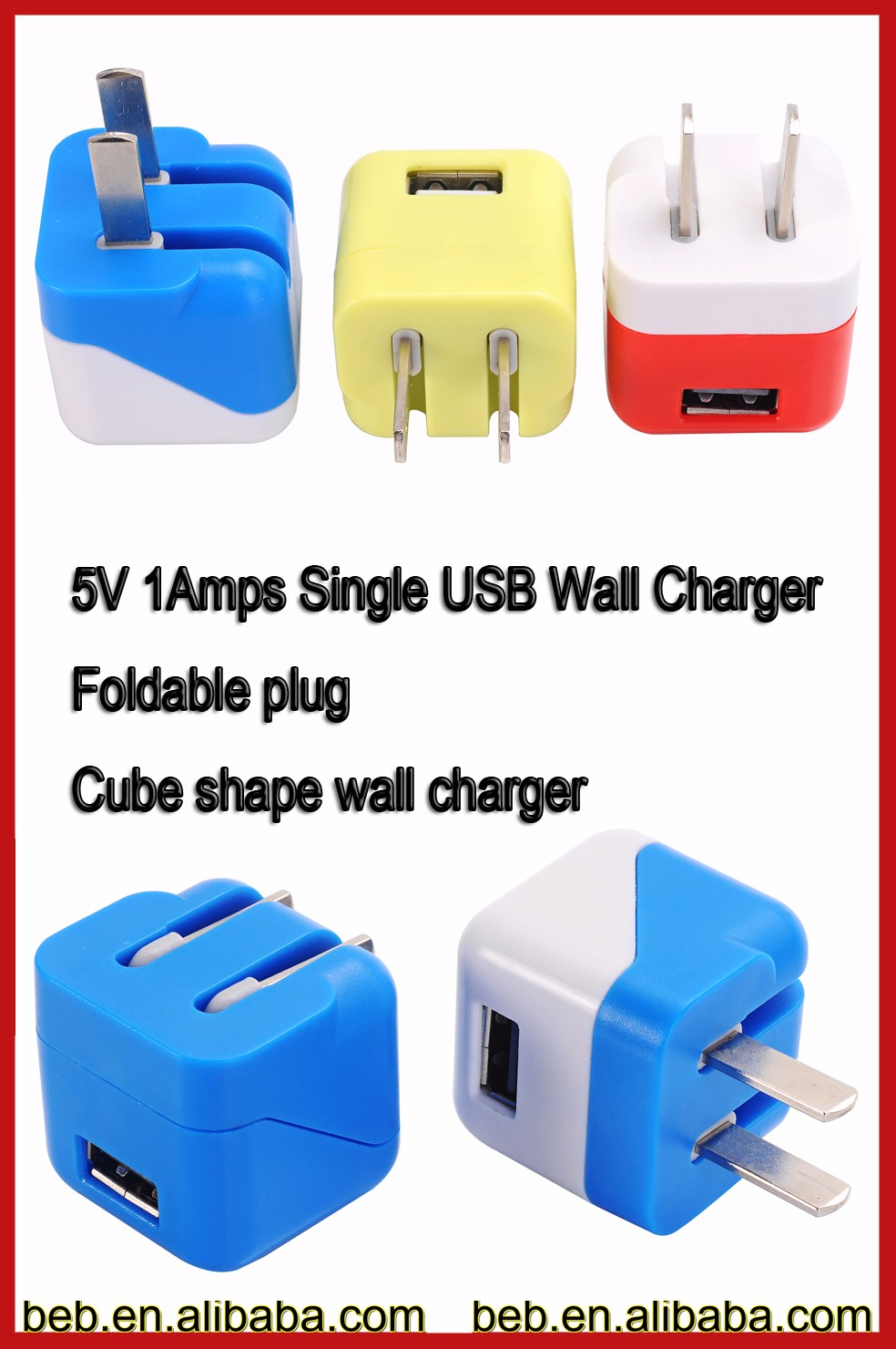 5v 1000ma ETL wall charger phone charger for iphone 6 iphone 7 usb wall charger on sale
