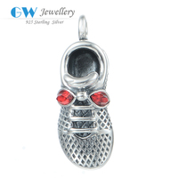 Fashion Shoes Pendant Charm For Silver Necklace 925 Silver Men's Pendant PETY001