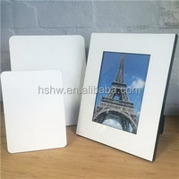 Blank MDF photo picture frame, sublimation wood paneling