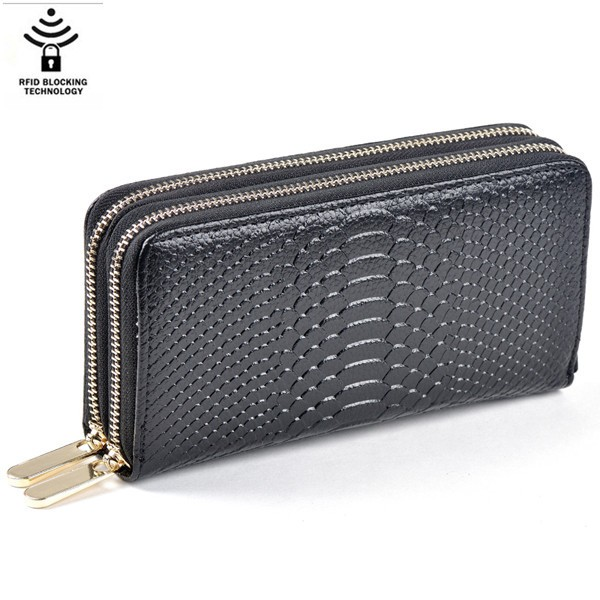 2017 china product 100% pu best ladies long men's metal zipper around leather wallets hand purse