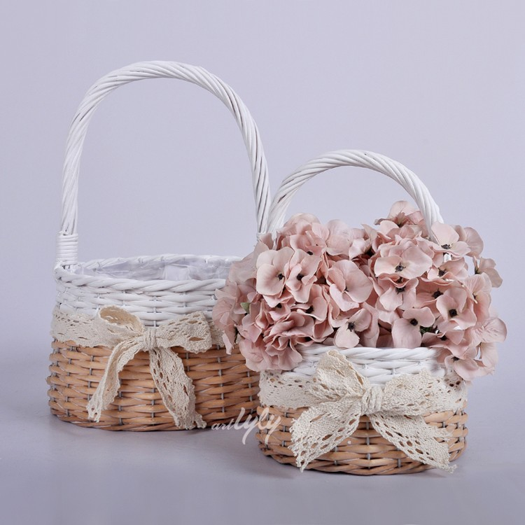 natural wicker planters for garden decoration flower pot