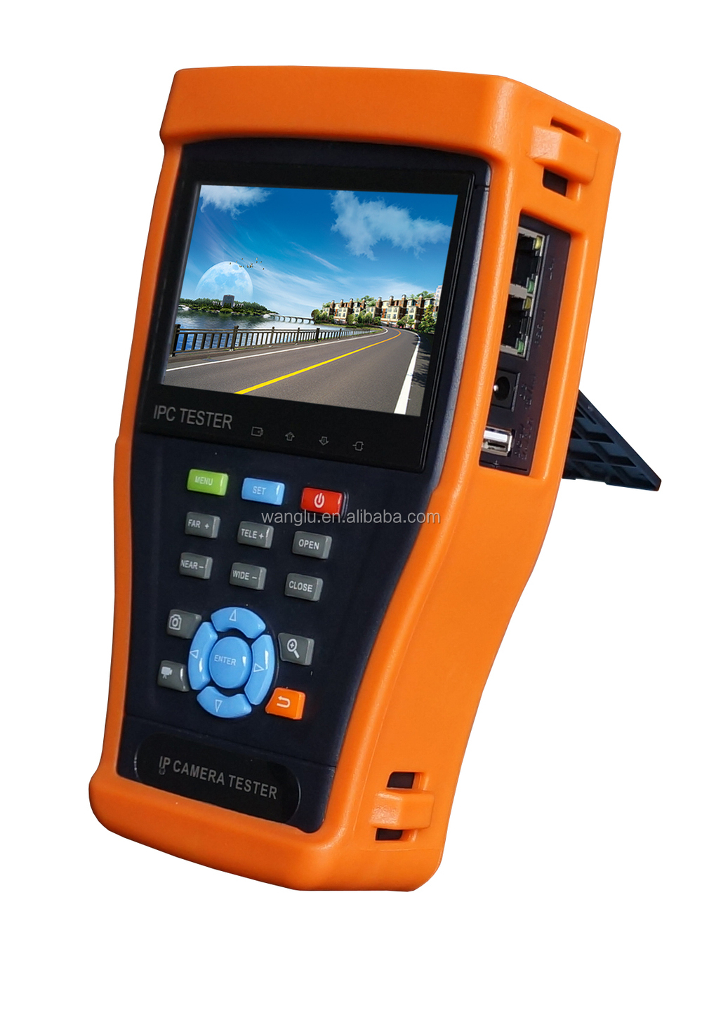 4.3 inch all in one cctv tester for IP TVI CVI AHD SDI and analog camera testing