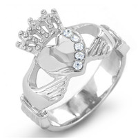 Yiwu Aceon Stainless Steel Irish Crystal Claddagh Ring alibaba express turkey