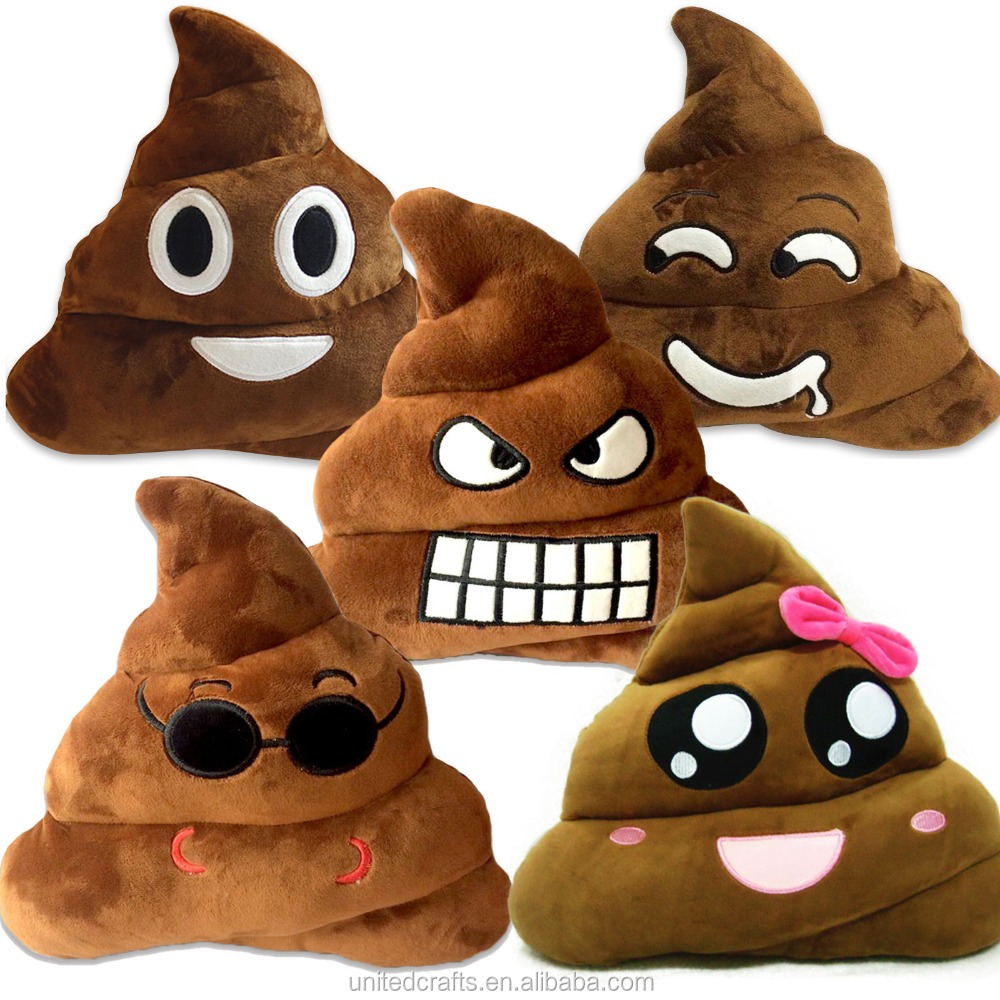 Funny Emoji Emoticon Cushion Poo Shape Pillow Soft Stuffed Doll Toy Throw Pillow