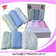 Wholesale swaddle wrap newborn fabric muslin cotton baby blankets