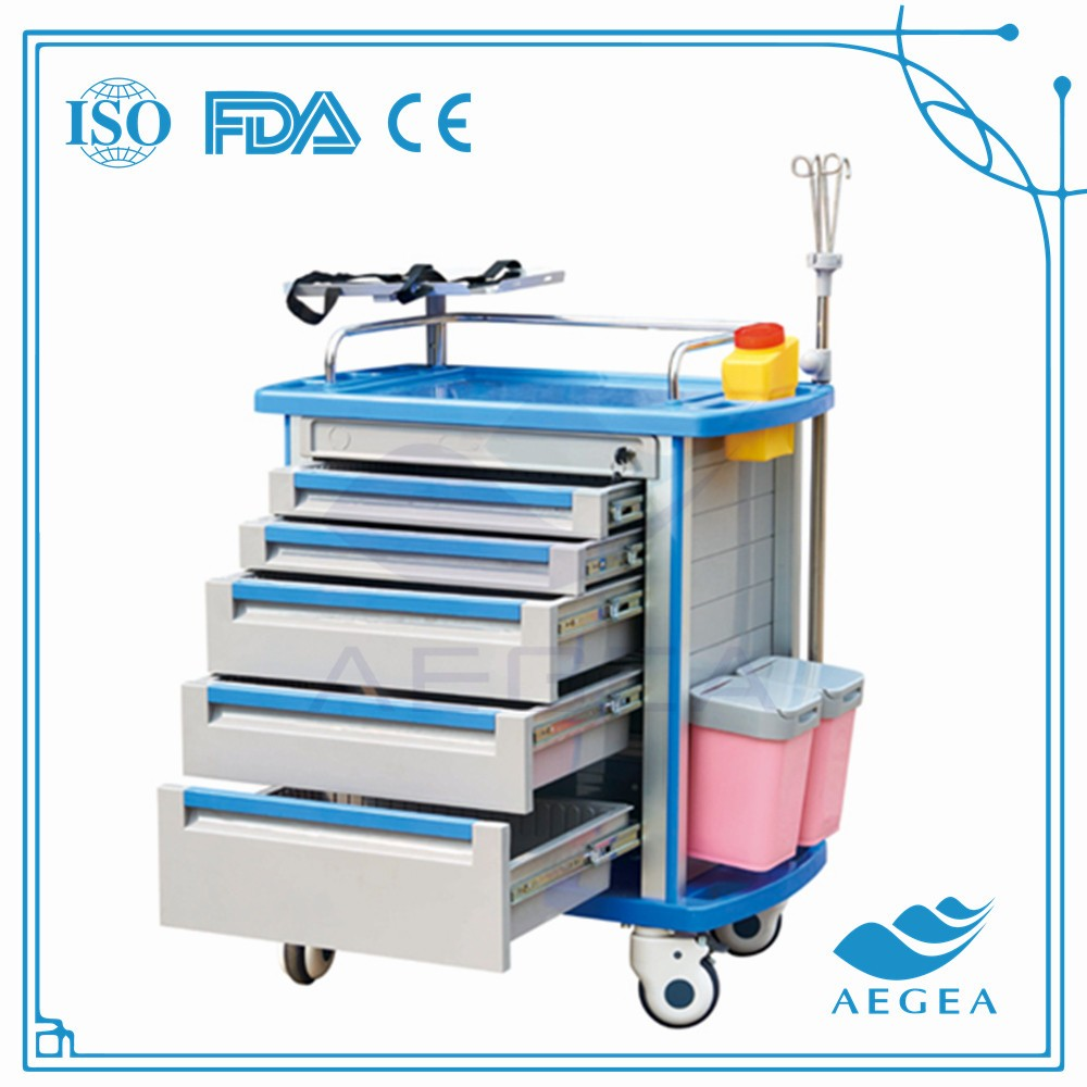 AG-ET001A1 surgical instrument with drawers hospital linen trolley for sale