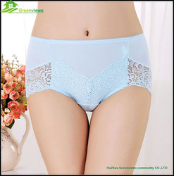 Hot Sale Women Underwear With Dot Fabric Lace comfortable women underwear GVMT0003
