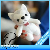 Hot selling lovely plush bear cute 3D cell phone case For iphone 5