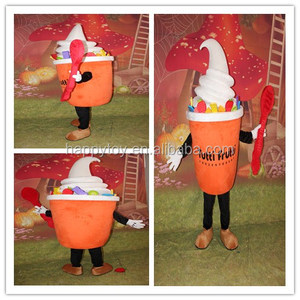 HI CN 71 Fruit flavored ice cream mascot costume,Delicious cream mascot suits,Delicious cheese costume for summer