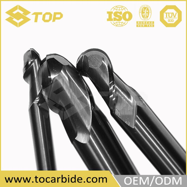 OEM design Carbide drill bits, micro carbide end mill cutter, solid carbide end mill ball nose