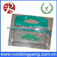 eco-friendly transparent standup Cosmetic PVC Bag
