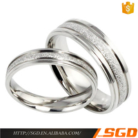 Unique stainless steel jewelry wedding rings set for couples