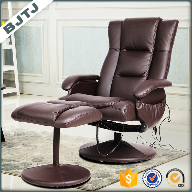 BJTJ designer brown leather office chair with PU ottoman 70176PA