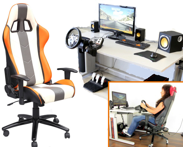 vibration racing gaming chair Interactive Virtual Reality Chair/dxracer