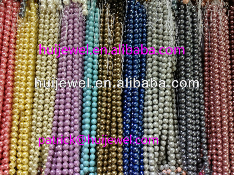 dyed mother of pearl shell beads