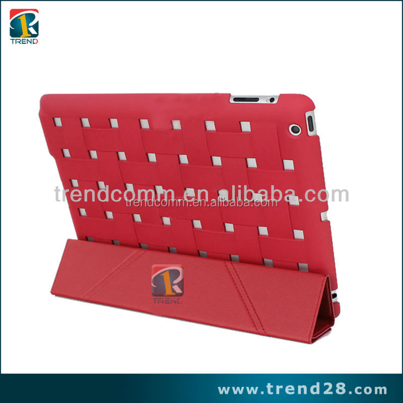 new products stand leather wallet case for ipad 4