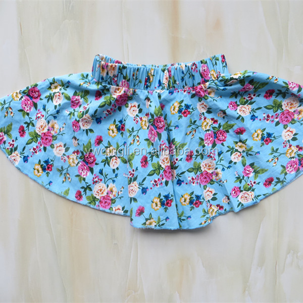 2015 Wholesale Summer Boutique Tank Top and Mini Skirt Outfits 2pcs baby clothes
