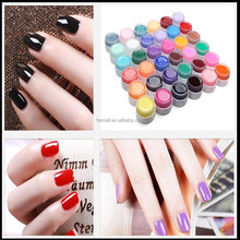 Good Quality Cheap Price Nail Art Glitter 24 Colors Uv Gel Polish Soak Top Coat for Lamp Decoration Gel