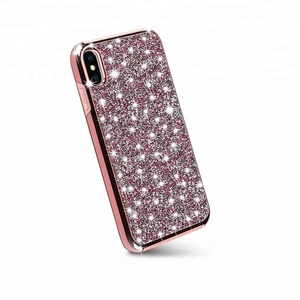 for iphone x 3d diamond phone case,pattern crystal case with air cushion case for iphone x 8 7 6 plus 5
