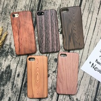 Wood Grain Printed Cover Case for iphone 7 Mobile Phone Accessory for iphone 7 plus Cover With IMD for i Phone 7 Case