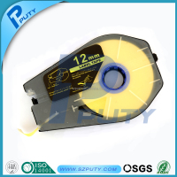 12mm compatible yellow tape cassette PT-1112Y Cable marking labels for cable ID printer MK1500 and MK2500