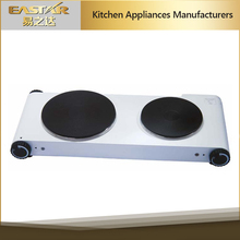 2016 commercial double burner hot plate classic elegant electric cooking plate electric stove parts for sale