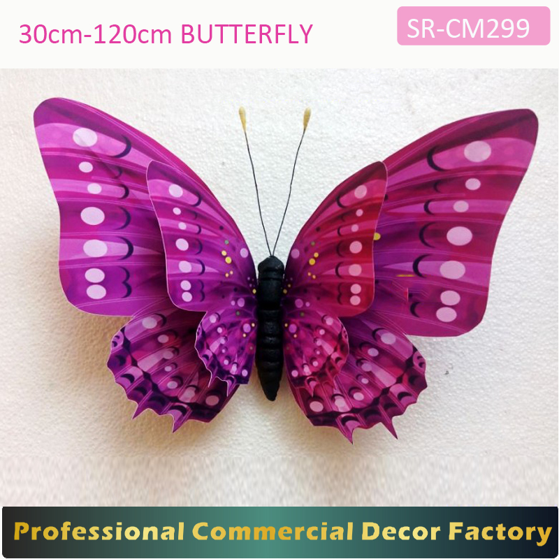 Custom commercia1m 1.2m large hanging butterfly for spring decoration in stock