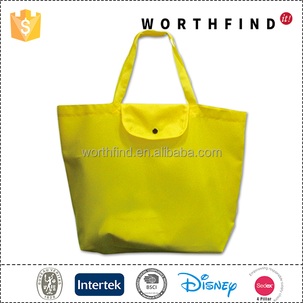 Wholesale eco friendly large capacity cheap foldable polyester shopping bag