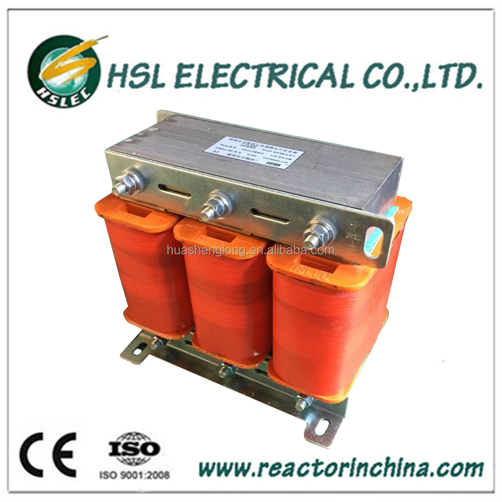 3 phase 200A 10 mh inductor reactor with iron core