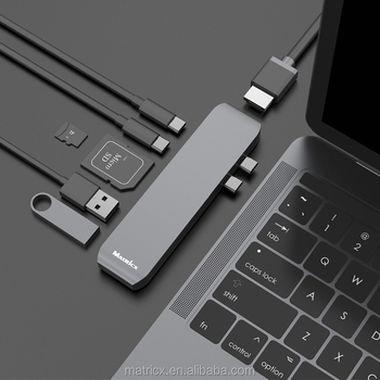 Double usb c connector type c hub to 4K hd mi adapter sd tf type c card reader usb 3.1 hub