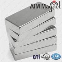 Manufacturing powerful super strong neodymium ndfeb N52 large magnets