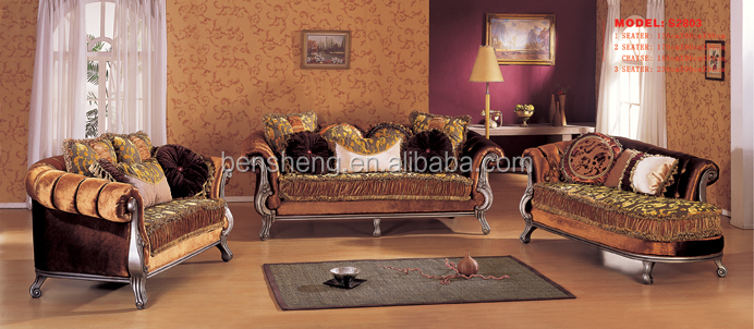S2803 Guangdong furniture ,living room fabric sofa set, classic sofa chaise