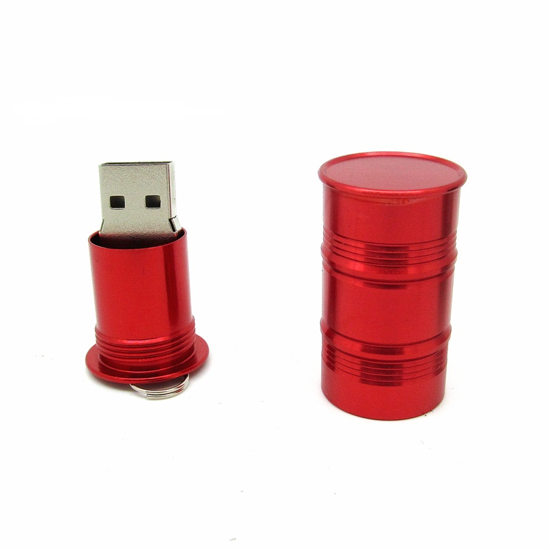 oem metal barrel USB pen drive, novelty shape usb flash drive / Oil drum USB flash drive disk